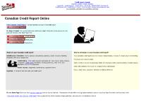 Credit report Canada residents only, Free credit report for England and UK