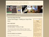 caninekneesurgery.com Canine knee surgery, dog knee surgery, Tibial Tuberosity Advancement