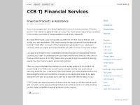 CCB TJ Financial Services