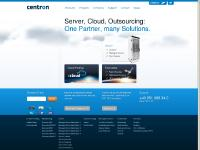 centron.co.uk Products, Webhosting, Server