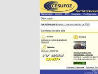 cesufoz.edu.br graduação, pós-graduação, cursos