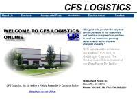 CFS:WELCOME