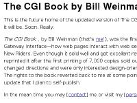 The CGI Book by Bill Weinman