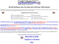 Quicken and QuickBooks users CHECKMAGIC saves 70% of the cost of checks