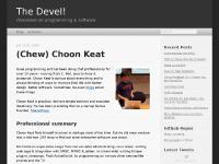 (Chew) Choon Keat - The Devel!