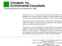 Chryatech, Inc. -Central Ohio Environmental Consultant