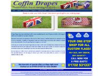 coffindrape.co.uk Coffin drapes, casket covers, coffin flags