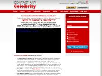 Contact Any Celebrity | Your #1 Source For Accurate Celebrity Contact Information