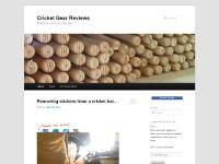 Cricket Gear Reviews - When you need more information.