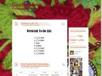 crochetmoon.com Alissa's Ballet Bun Cover, Dewdrop Scrunchie, Sally's Scrunchie