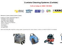 Cumbria Cleaning Systems (Carlisle) - Sales, Service and Repair of Industrial Cleaning