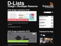 D-Lists - Web & Graphic Design Inspiration