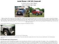 Land Rover 130 V8 Crewcab