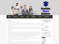 disabilitymeansbusiness.com disability, disabled business, disabled entrepreneur