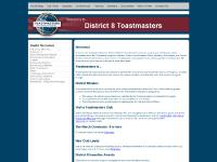 District 8 Toastmasters Home Page
