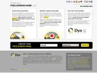 Free Domain Name with Dyn.com