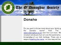 donaho.co.uk Donaho,O`Donoghue,the O`Donoghue society.