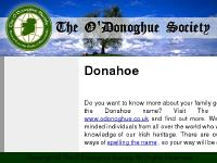 Donahoe - Welcome to The O'Donoghue Society.