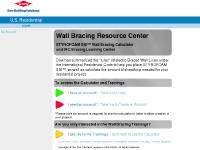 Dow Wall Bracing Learning Center