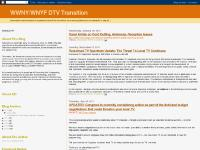 dtvtransition.blogspot.com 8:48 AM, 11:55 AM, Life With DTV