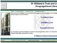 dwlib.co.uk Dr.Daniel Wiliams, library, non-conformist