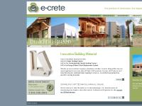 E-Crete autoclaved aerated concrete block, a fire and mold resistant, energy efficient green building material.