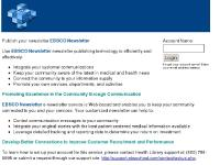 ebsconewsletter.com newsletter, publishing tool, health information
