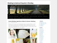 Wedding invitations, Wedding invitation wording and Wedding etiquette