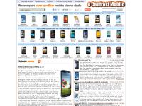 Mobile phone price comparison site.