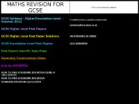 GCSE Foundation Level Past Papers, LOCI ANSWERS, H