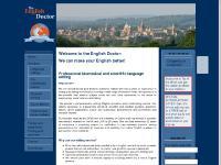 englishdoctor.co.uk science editing, language editing, biomedical editing