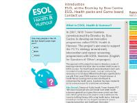 What is ESOL Health & Humour?