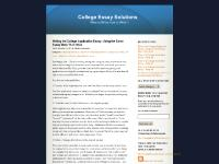 College Essay Solutions