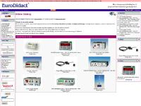 eurodidact.co.uk Catalog, Shipping & Returns, log yourself in