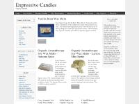 expressivecandles.com candles, hand poured, highly scented candles