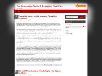 Car Insurance Content, Inquiries, Solutions