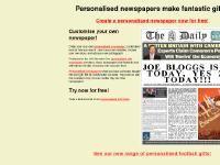 fakenewspapers.co.uk personalised newspapers, personalised newspaper, fake newspapers