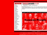Famous People - Biographies of Famous People, Famous People Dead and Alive.
