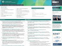 finance.gov.au Finance; Department of Finance and Deregulation;