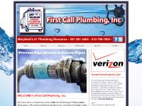 First Call Plumbing - Maryland's #1 Plumbing Resource!