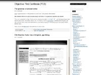 firstcertificate.wordpress.com Objective: First Certificate (FCE), The grammar of phrasalverbs, other posts