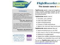 The domain name FlightRecorder.co.uk is for sale. Own it today. Find out how...