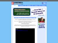 Tutorials, Club Shop, website for junior footbal