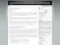 Free Case Study: Case Study Examples and Sample Case Studies | Professional case