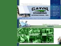 Gator Stamping International Website - stamping, sheet metal fabrication, laser, turrets, powder coating, and other manufacturing services