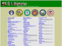 US Military Pins, Patches, Badges, Hats, Cups, Buckles, by G. I. Memories
