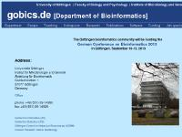 gobics.de University of Göttingen, Faculty of Biology, Institute of Microbiology and Genetics