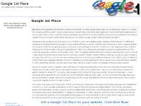 Google 1st Place