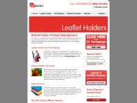 Leaflet Holders | Plastic Fabrication | POS Displays ~ Tailor Made Plastic Parts and Products