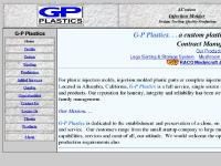 G-P Plastics -- A custom injection molder in Southern California.